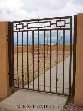 Courtyard Gates   Phoenix Arizona   Sunset Gates