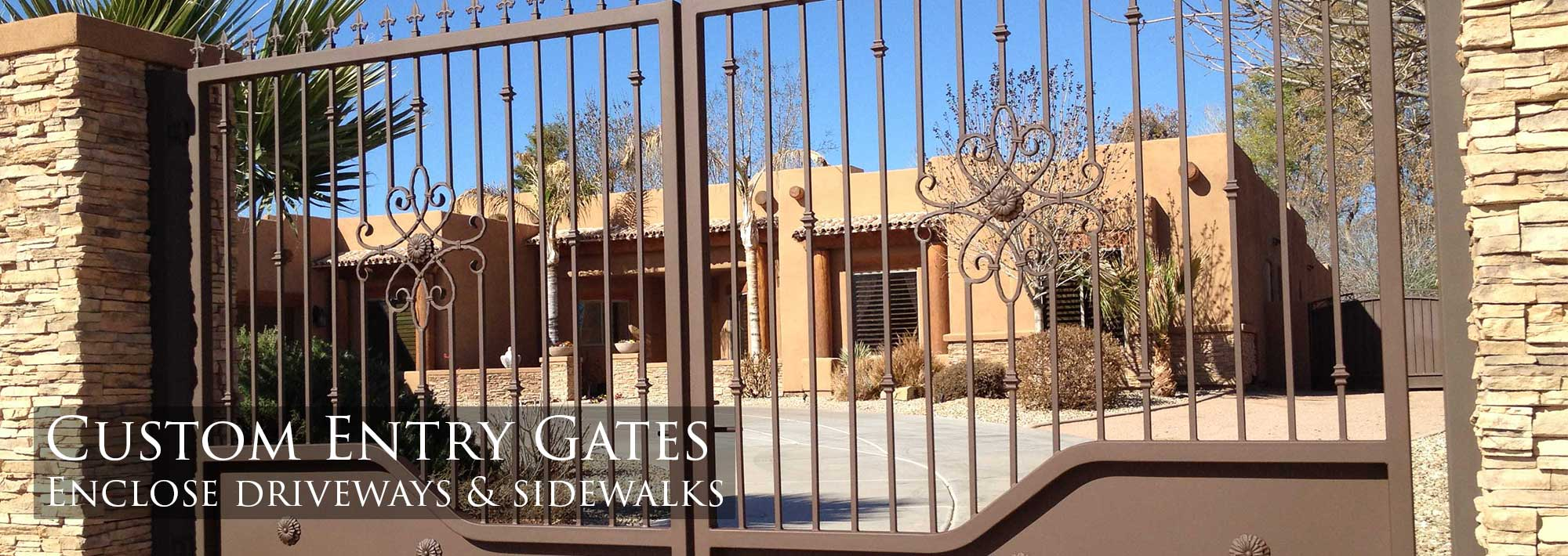 Wrought Iron Gates | Phoenix | Chandler | Gilbert | Mesa | Tempe | Sunset Gates